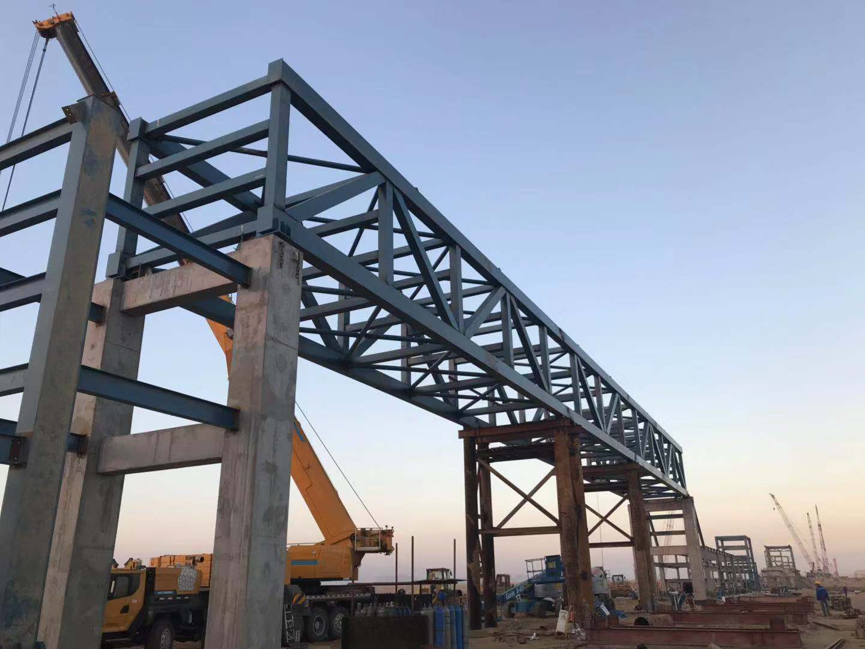 中化泉州61.1米钢栈桥安装